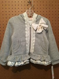 Mae Li Rose Girls Hoody with Ruffles